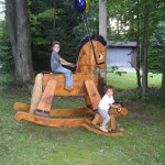 Giant rocking horse