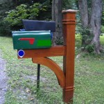 Western red cedar mailbox post