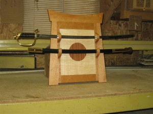 Sword wall rack