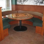 Booth and table
