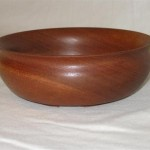 Mahogany bowl
