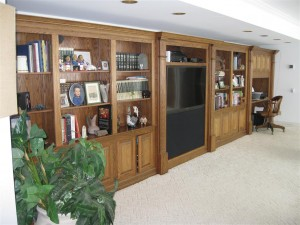 27' oak wall unit