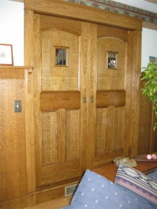 Mission Style Pocket Doors