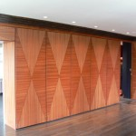 Ribbon mahogany wall panels