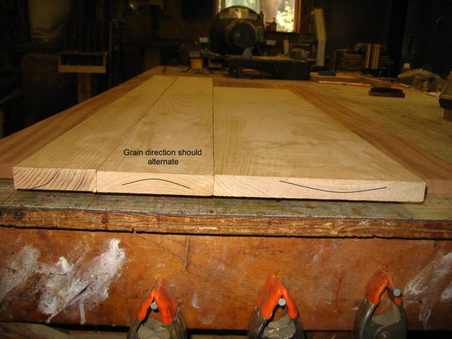 It Is Better To Have Six Three Inch Boards Make Up An 18 Top Than The Narrower Flatter Will Stay