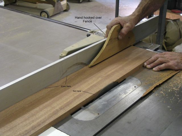 Custom furniture and fabrication how to safely and accurately use as the stock exits the blade finish the cut with your body resting against the table this ensures that should the stock get caught in the blade greentooth Gallery