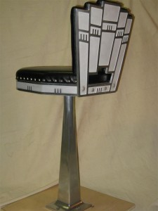 Art deco bar stool back