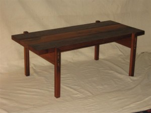 Reclaimed western red cedar coffee table. $275.00