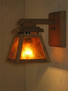 ADK Craftsman Lighting Sconce 5x7x7 w/amber mica