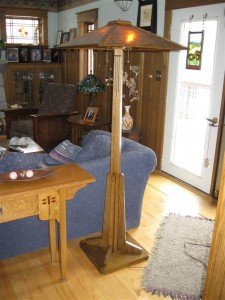 ADK Adirondack Craftsman lighting dark oak prairie style floor lamp. $1580.00