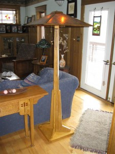 ADK Adirondack Craftsman Lighting light base/dark shade prairie floor lamp. $1580.00