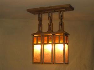 ADK Adirondack Craftsman Lighting 3 shade ceiling light $565.00