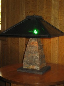TL7 Rustic table lamp $450.00