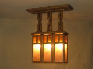 ADK Adirondack Craftsman Lighting 3 shade ceiling light