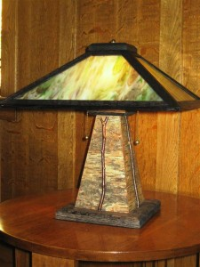 TL6 Rustic table lamp 18 x 18 x 19 1/2